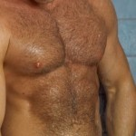 Nice abs and chest obscured by too much hair